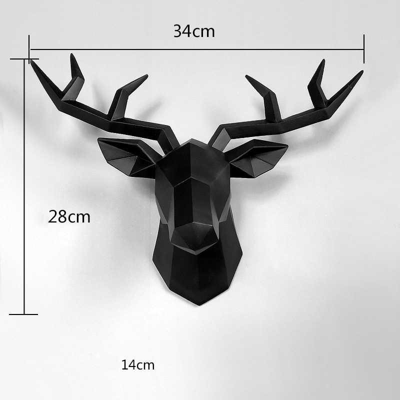 ホーム像装飾アクセサリー 34 × 28 × 14 センチメートルヴィンテージカモシカヘッド抽象彫刻ルーム壁の装飾樹脂鹿頭像