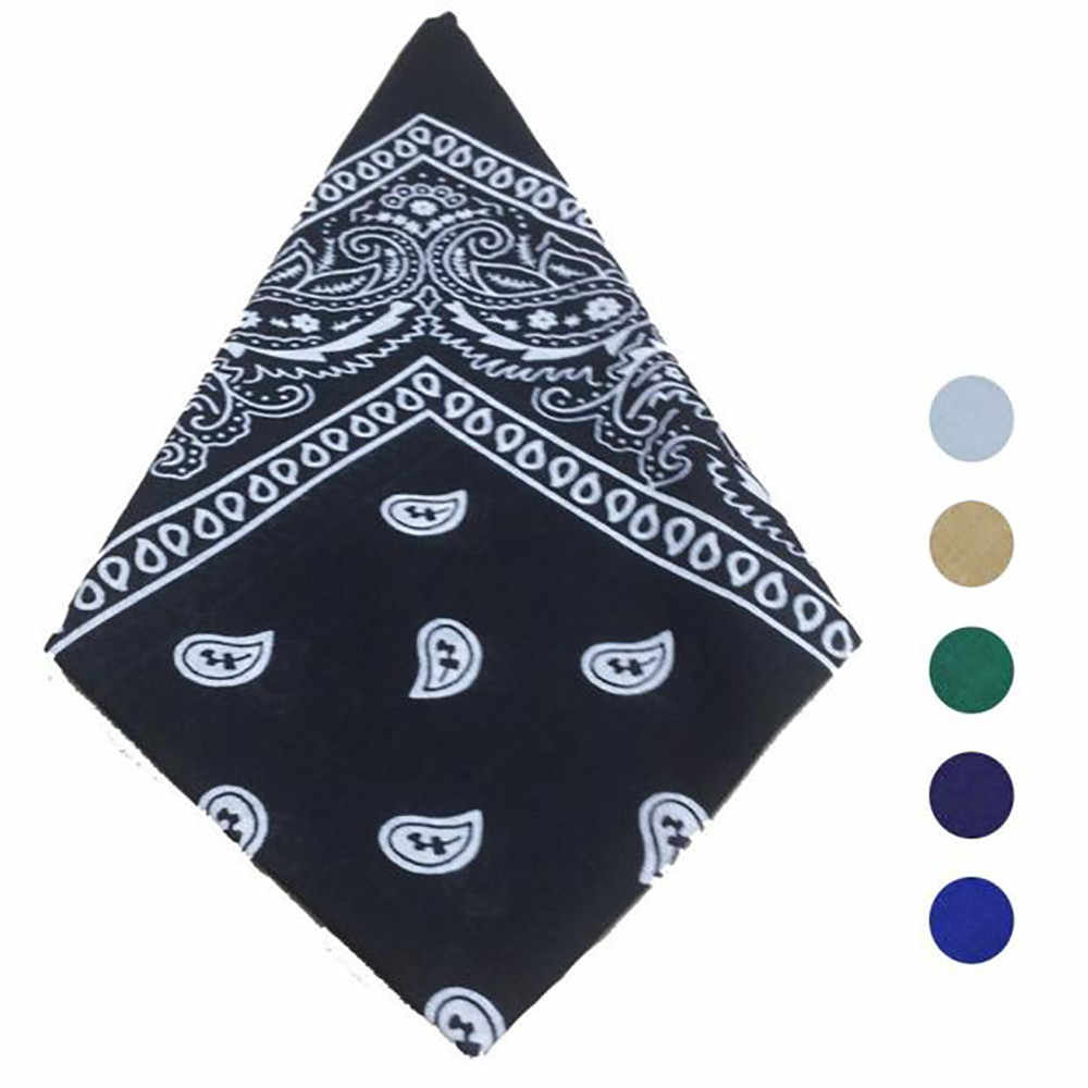 Bandana Scarf Square Head Scarf Female Bandanas Headwear Headwrap Girls Hair Accessories echarpes foulards femme dropshipping