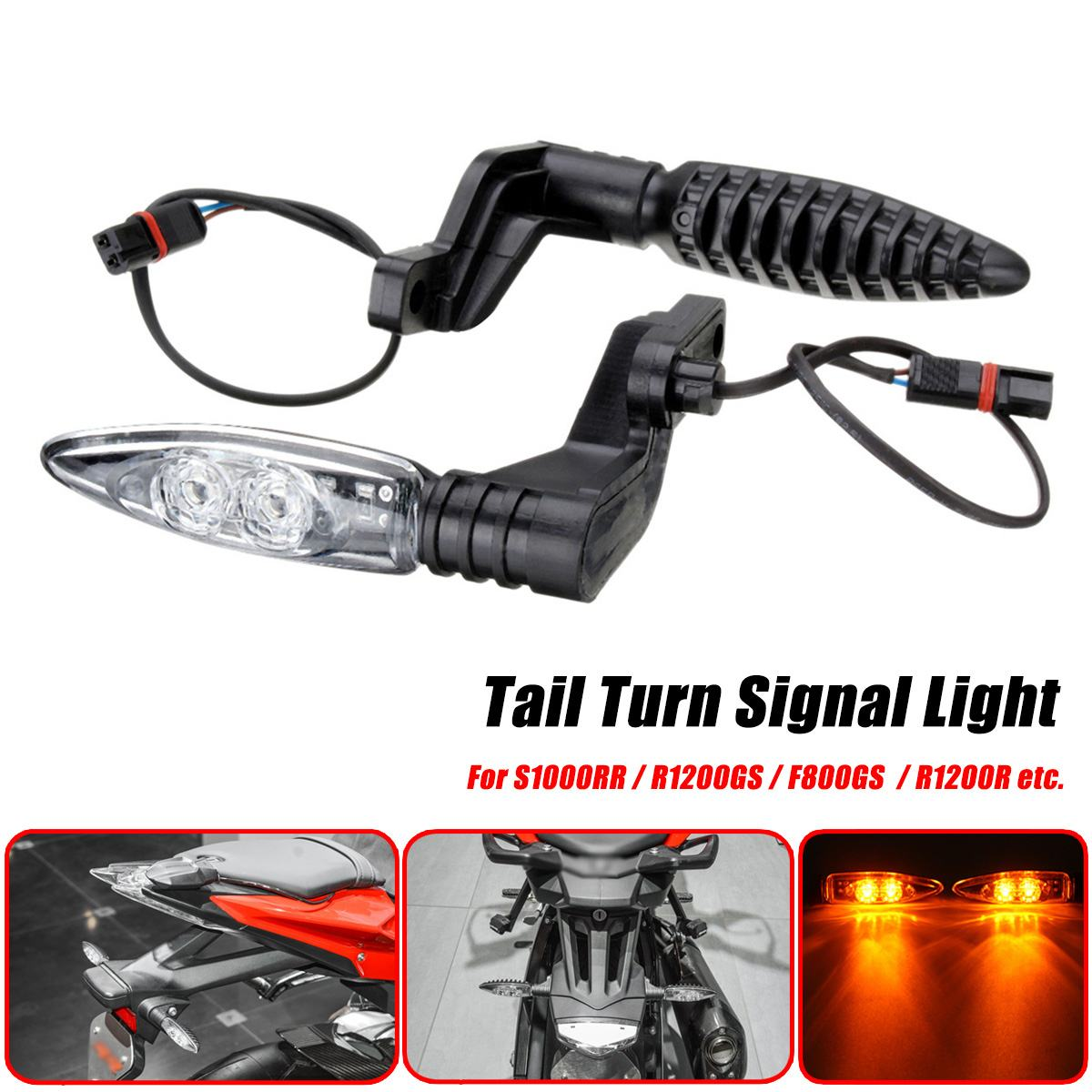 Pair 12V Motorcycle <font><b>LED</b></font> Turn Signal Lights Indicator Blinker Lamps For BMW S1000R S1000RR S1000XR R1200GS <font><b>R1200R</b></font> <font><b>R1200R</b></font> image