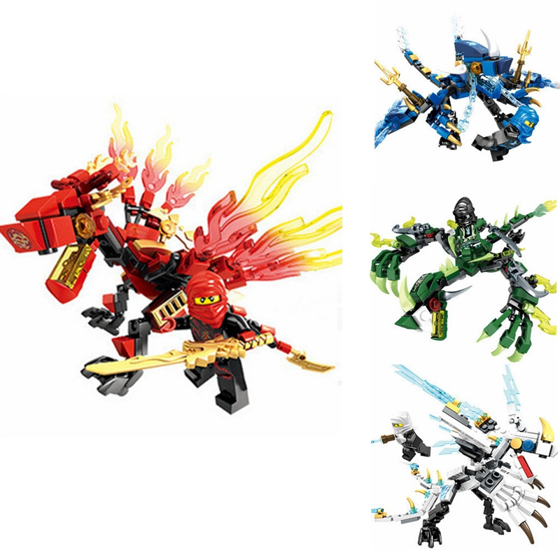 Ninja Dragon Knight Model Building Blocks Compatible Lepining Dragon Knight Figures Bricks Toys For Children Boy Friends