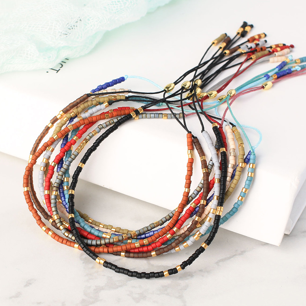 KELITCH Friendship Bracelets Miyuki Beaded Bracelets Handmade Bohemia Strand bracelet New Mix Adjustable Crystal Bracelet