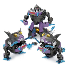 Dönüşüm G1 Sharkticon MFT MF 26 KO 3 adet Metal kaplama seti köpekbalığı Anime aksiyon figürü Robot çocuk koleksiyonu oyuncaklar