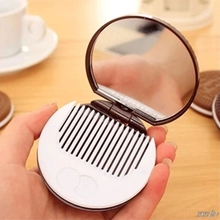 Pocket-Mirror Cosmetic Makeup Girls Cookie Folding Mini Portable Princess with Comb Sandwich