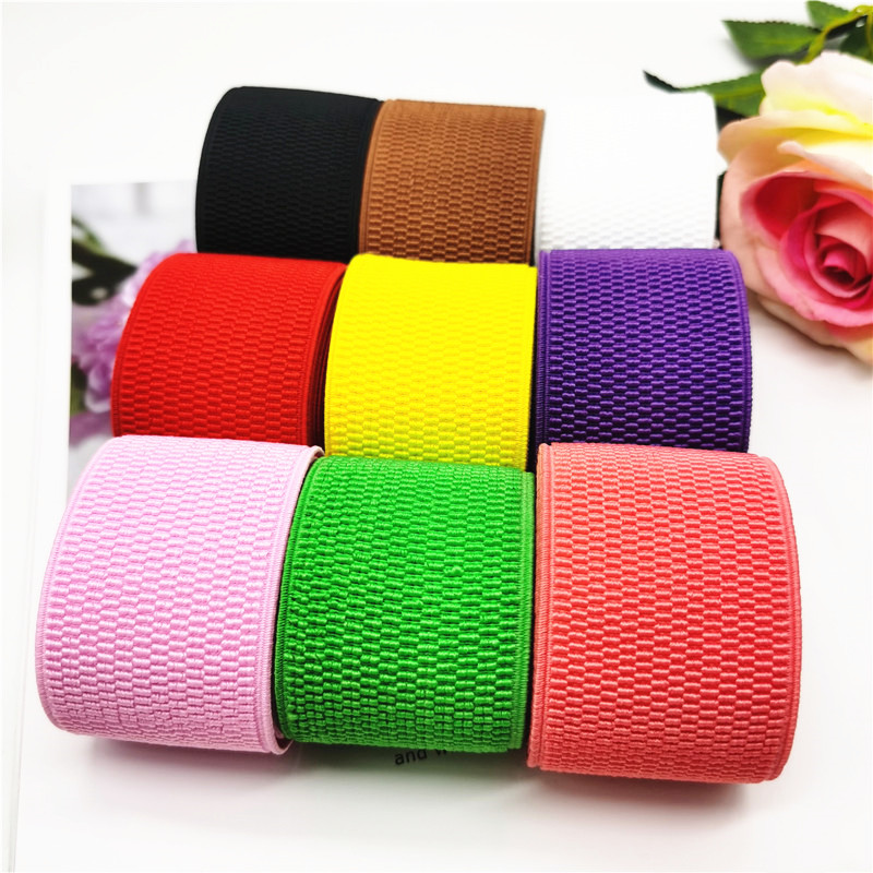 50mm Nylon Elastic Bands Multicolor Corn Pattern Elastic Band Thickening Waistband DIY Crafts Sewing Clothes Accessories 1meter
