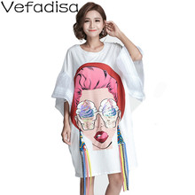 Dress Irregular Cartoon Black