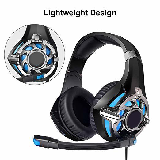 SA-822 Gaming Headset High Sound Quality Headphones 3.5mm with Microphone for PC Laptop Computer Gaming FKU66 image