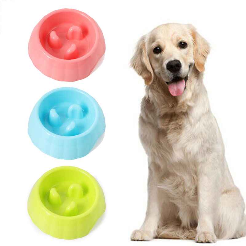 New Feeding Puppy Slow Down Eating Feeder Dish Bowel Prevent Obesity Dogs Supplies Bowl Pet Dog Cats Interactive Slow Food Bowls