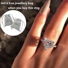Fashion AAA Zircon Heart Shaped Ring Luxury Design Womens Wedding Engagement Bridal Classic zircon CZ jewelry D30