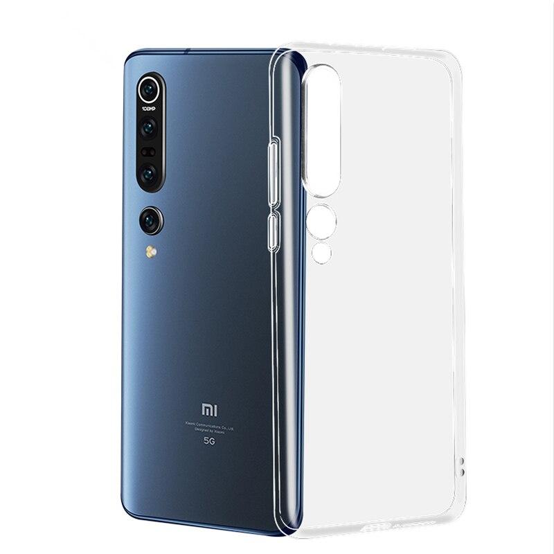 Простой Прозрачный чехол для Xiaomi Mi 9 lite SE A3 A2 Lite Mi 11 10 Pro Note 10 lite Redmi Note 7 8 9 Pro 8T 9A 9C, силиконовые чехлы