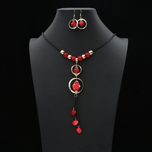 цена на Crazy Feng Fashion Acrylic Geometric Women Necklaces & Earrings Jewelry Sets  Statement For Lady's Jewelry Gift