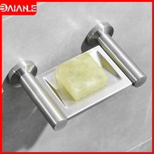 Bathroom Soap Holder Drain Tray Stainless Steel Soap Rack Creative Home Hotel Toilet Soap Dish Shower Storage Rack Wall Mounted все цены