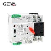 Free Shipping GEYA Din Rail 220V 2Pole ATS Power Automatic Transfer Switch 63A 100A 50/60Hz PC Grade ATSE цена и фото