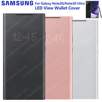 SAMSUNG Original LED View Phone LED Wallet Cover For Galaxy Note 20 Note 20 Note20 Ultra 5G Note 20 UltraLED