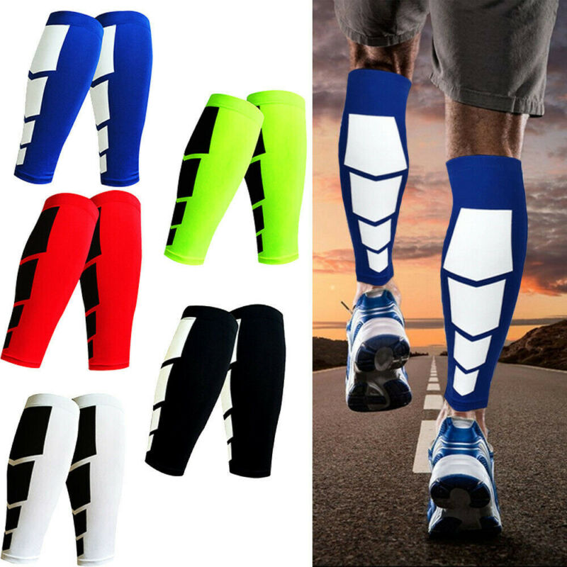 Brand New Calf Leg Running Compression Sleeve Socks Shin Splint Support Brace Guard Sports Knee Sleeve