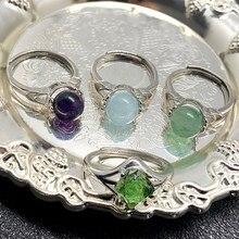 Anéis de pedra natural rotatable para o casal feminino anéis de cristal ajustável handmake presentes para a festa de aniversário atacado