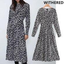 Увядшее английское винтажное платье в горошек с О-образным вырезом, женское платье миди, vestidos de fiesta de noche vestidos, Блейзер, макси платье