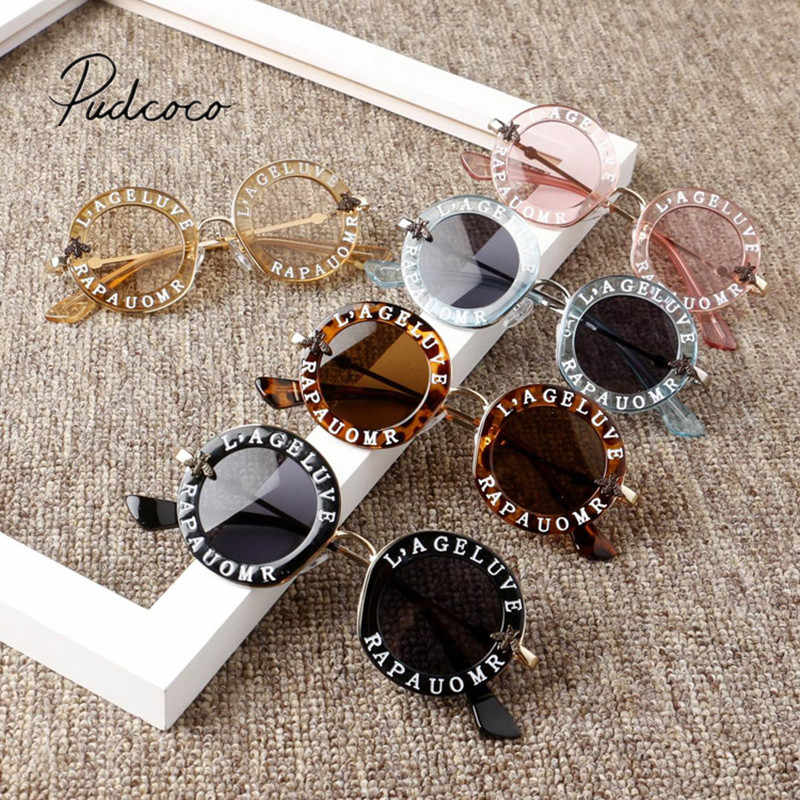 2019 Baby Accessories Infant Kids Baby Girls Boys Fashion Sunglasses Letter Print Sun Protection Glasses Kids Gift Wholesale