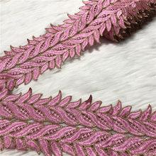 10yards dentelle ruban garnitures Garniture accessoires Garniture brodée pour couture décoration africaine dentelle tissu bricolage matériel