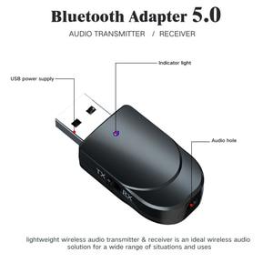 Image 2 - KEBIDU USB Bluetooth аудио ресивер, мини стерео Bluetooth 5,0 аудио AUX RCA 3,5 мм разъем для ТВ ПК беспроводной адаптер