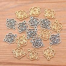 Для выведения токсинов, 40 шт 2 Цвет 13*16 мм KC Золотой бумажные розы Подвески завод соединитель металлического сплава