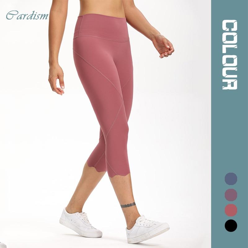 Cardism High Waist Sport Pants Women Yoga Sports Gym Sexy Leggings For Fitness Joggers Push Up Women Calf Length Pants Wave 1