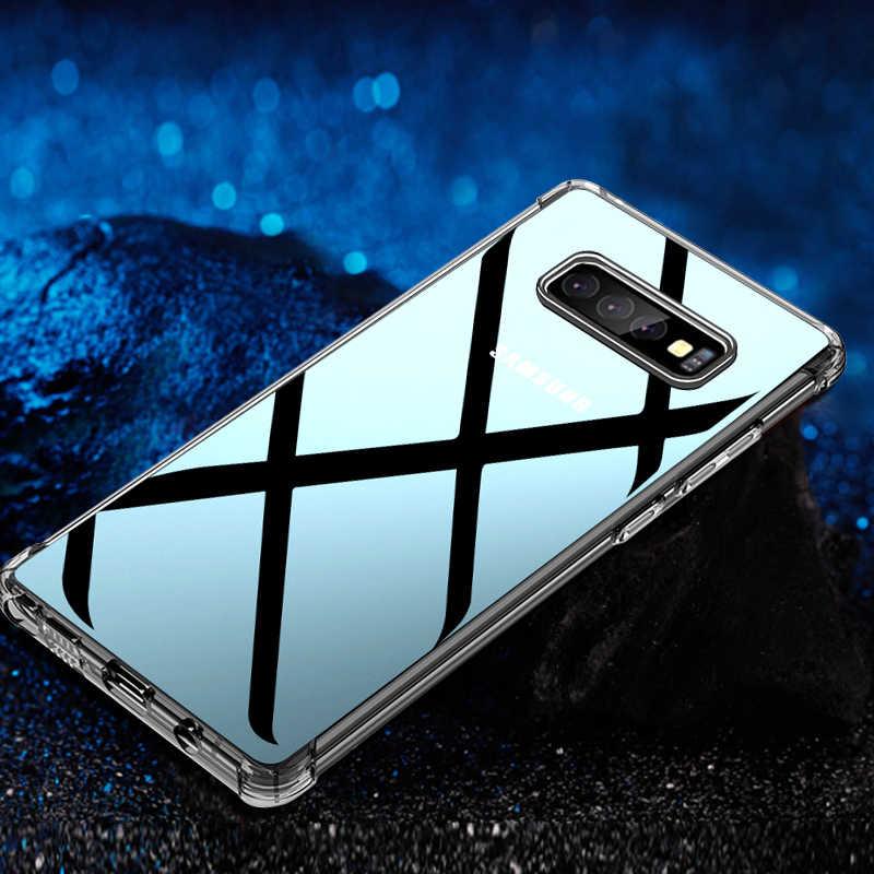 Airbag Anti-Batida Caso TPU claro Para Samsung Galaxy S10 S9 S8 Além De Cristal Tampa Traseira Do Telefone Para Samsung s10E Nota 9 8 Casos