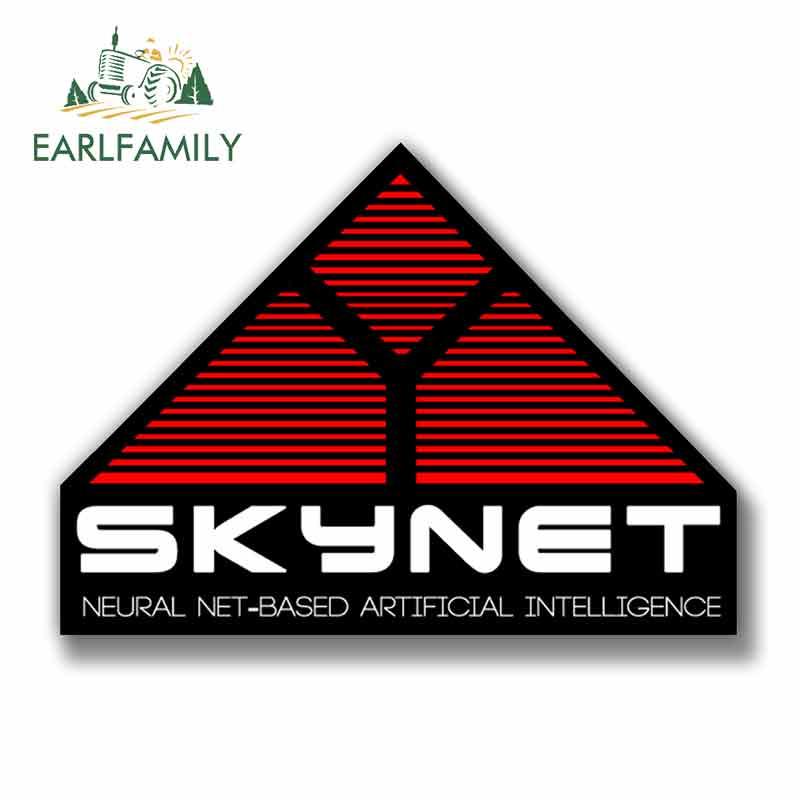EARLFAMILY 13cm X 9.5cm For Skynet Terminator Movie Novelty Decal Car Assessoires VAN SUV GTR Decoration Creative Stickers