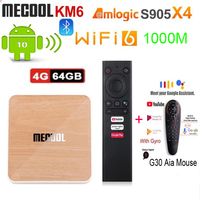 Mecool KM6 Deluxe ATV Amlogic S905X4 Smart Android 10,0 TV Box 4GB RAM 64GB ROM 2,4G/5G WiFi 4K Android 10 vs h96 max rk3566