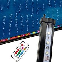 RGB светодиодный светильник для аквариума, светильник для аквариума, погружной светильник, воздушно-пузырьковая лампа для производства кислорода с пультом дистанционного управления для аквариума