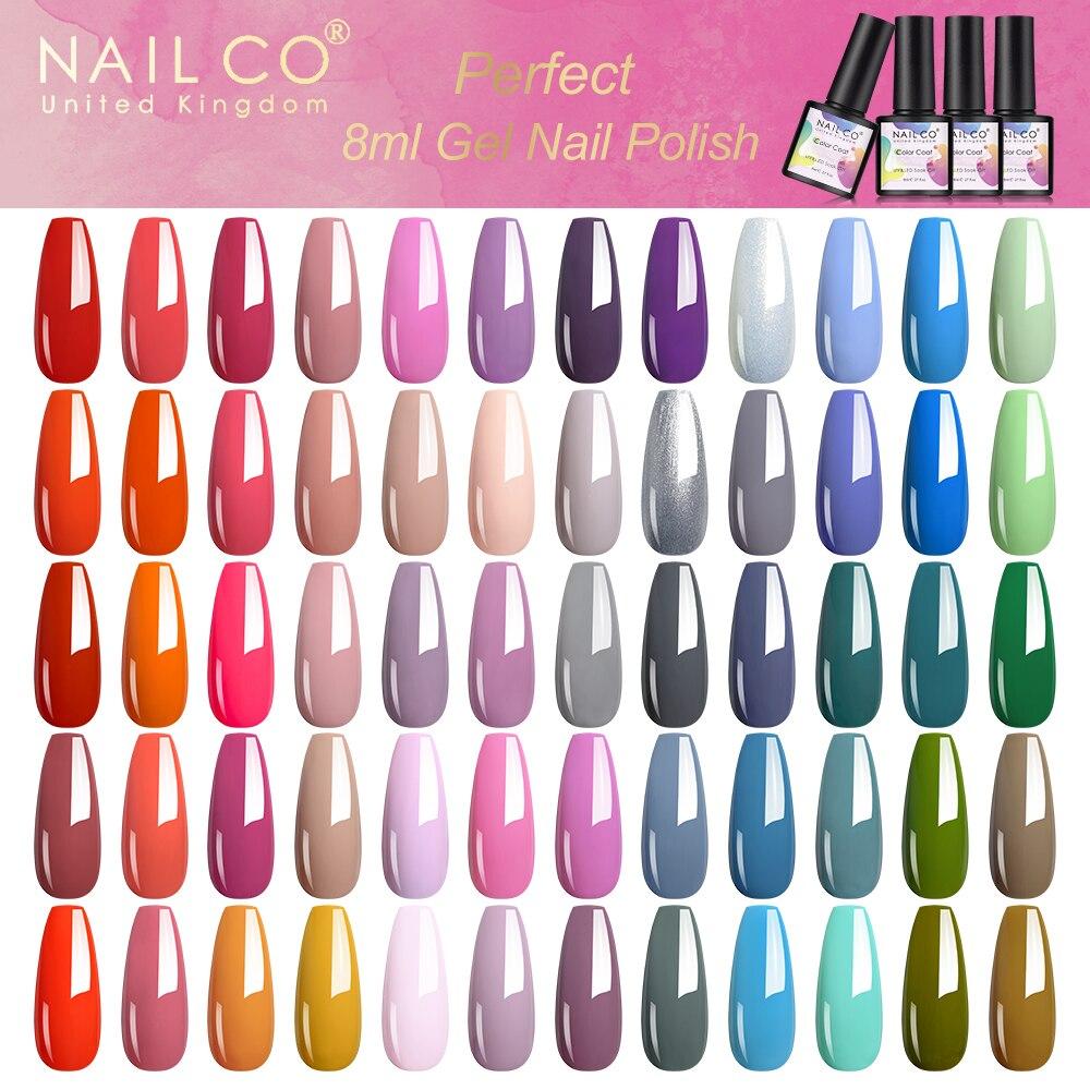 NAILCO 8ml Gel Nail Polish Varnish Stylish Color Lucky Glitter Gel Nails Lakiery Hybrydowe Esmalte DIY Nail Kit Soak Off Gellack