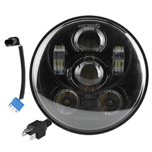 Motorcycle Front Light 5.75in 75W LED Headlight 6500K High Birhgtness Motorcycle Headlamp Fit for Jeep Wrangler