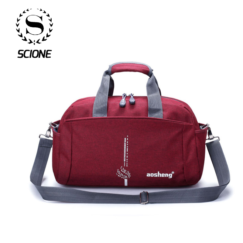 Scione Women Sports Bag Men Crossbody Handbag Suitcase Men Fitness Travel Shoulder Bags Large Capacity Leisure Bag