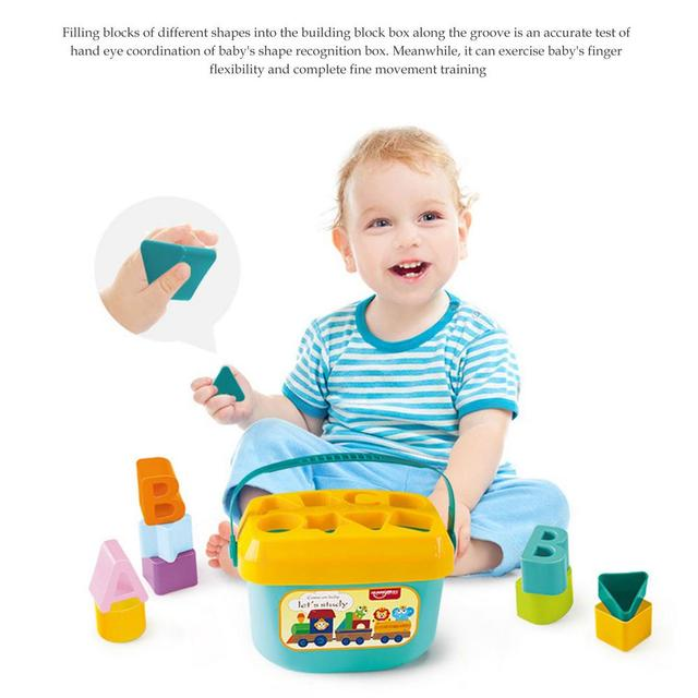 Baby Early Education Building Block Box 1-3 Years Old Multifunctional Baby Toy Shape Matching Early Education Toy 1