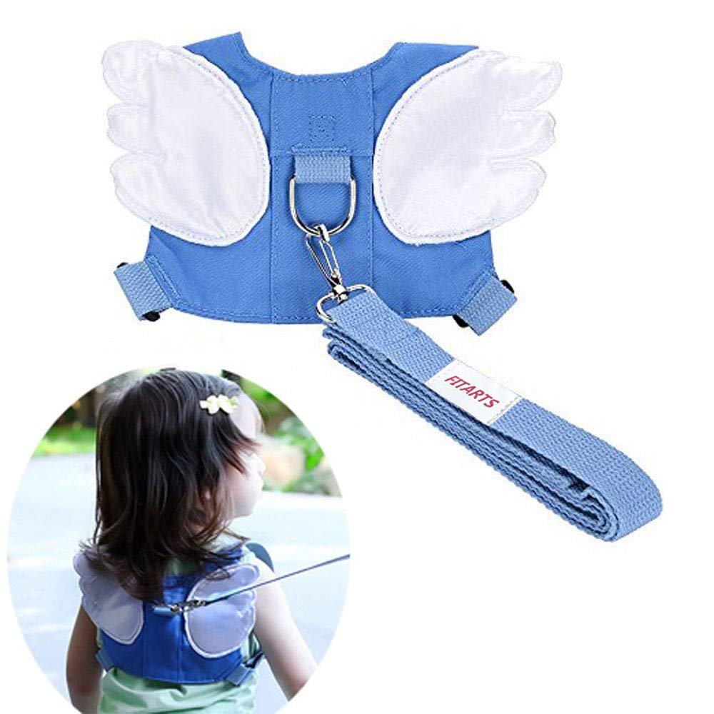 Child Toddler Anti-Lost Belt Harness Reins With Leash Strap Angel Wings Baby Safety Walking Belts For 1-3 Years Boys And Girls