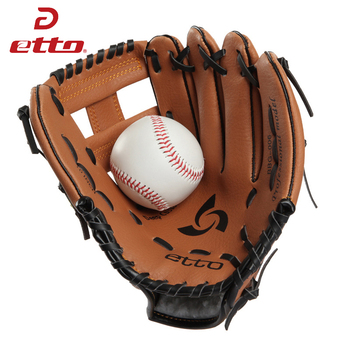 Etto jakości 10 11 cali mężczyźni profesjonalne rękawice do baseballu pcv lewa ręka Softball szkolenia dzban rękawiczki dla dzieci na mecz HOB004Z tanie i dobre opinie bucbon Mężczyzna Lewy Dzban s glove Baseball Gloves Men And Women Adult Non-slip Sport baseball glove right Baseball glove for
