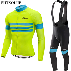 Image 2 - Phtxolue 2020 Winter Thermal Fleece Cycling Jerseys Set MTB Bike Clothes Maillot Ropa Ciclismo Invierno Bicycle Cycling Clothing