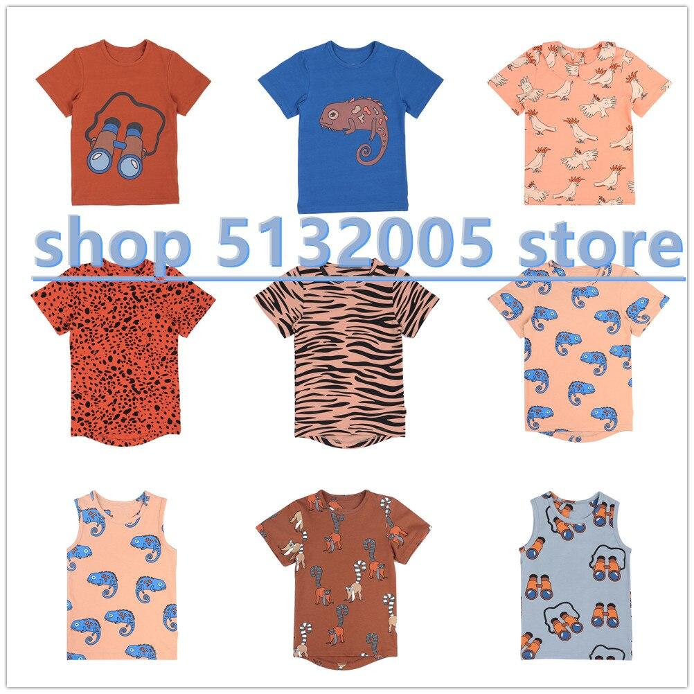 CalQ 2020 Spring New Children's Cotton Short-sleeved T-shirt Boys Tops  Girls Cotton Tops