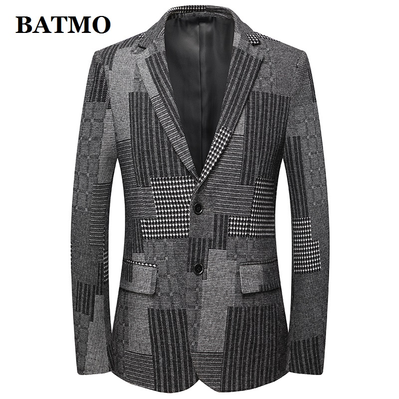BATMO 2019 New Arrival Autumn Wool Fashion Casual Blazer Men,men's Wool Jackets,19822
