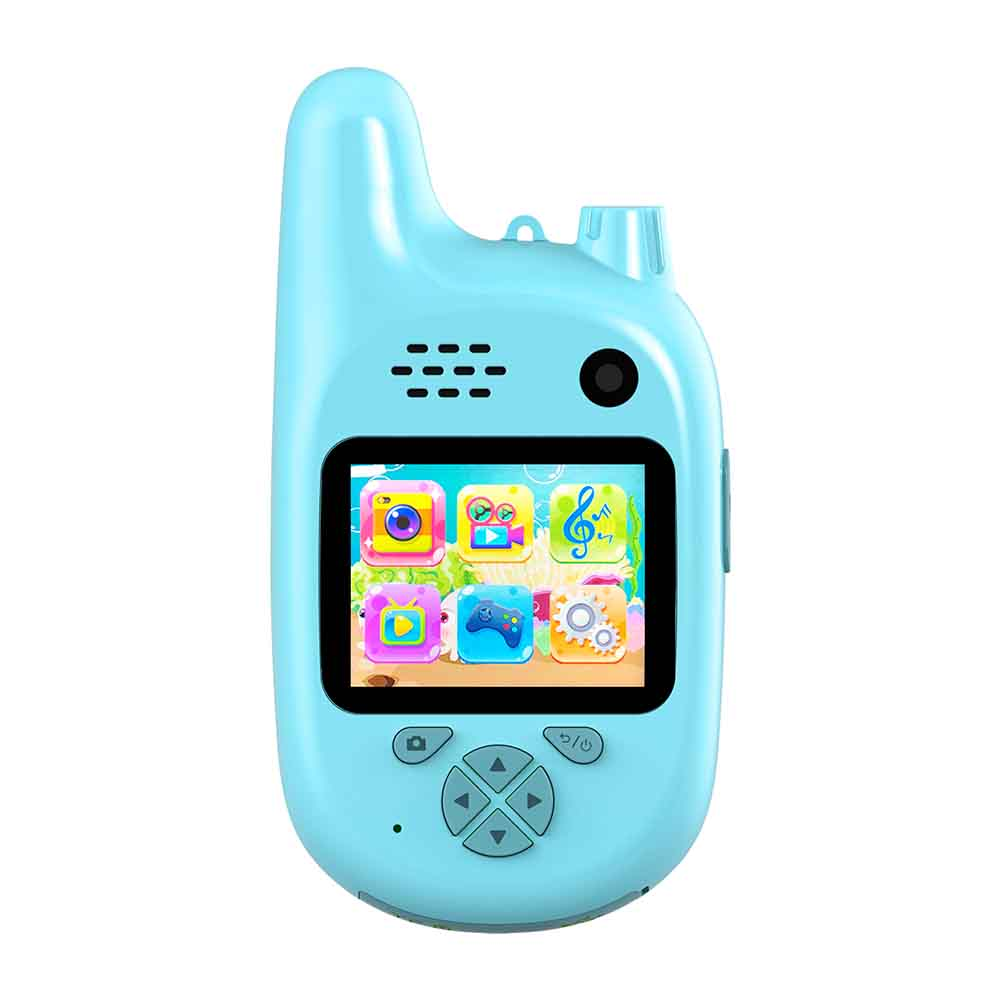 Walkie Talkie USB Rechargeable Video Recording Mini ABS HD Screen Intercom Camera Cartoon Kids Toy Interactive Shooting Outdoor