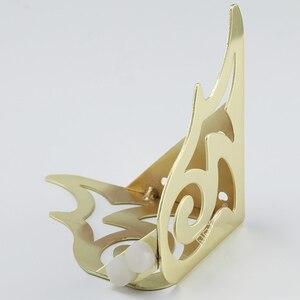 Image 4 - 4 adet altın desen Metal mobilya ayakları kanepe ayak firkete bacaklar firkete bacaklar mobilya koruma ayak donanım yatak yükseltici