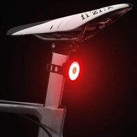 Luz trasera para bicicleta IPX8, recargable vía USB, resistente al agua, con bolsa para casco de montaña, 5 modelos