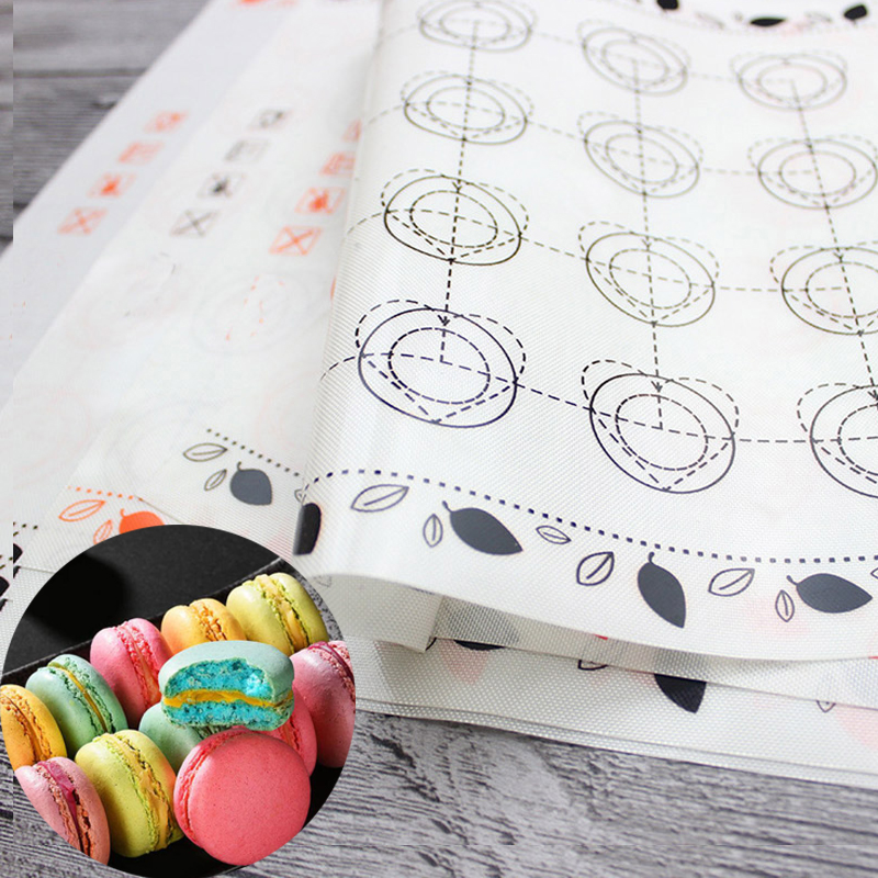 Силиконовый лист для выпечки макарон, коврик для выпечки тортов, десертов, печенья, коврик для выпечки, кухонные инструменты, духовка, силик...