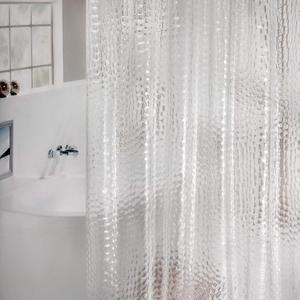 Image 5 - UFRIDAY 防水シャワーカーテン PEVA 半透明浴室 180x180cm クリアウォーターカーテンマグネット