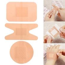 20 pçs bandagem aids impermeável respirável almofada adesivo emplastro ferida hemostasia adesivo faixa de primeiros socorros bandagem