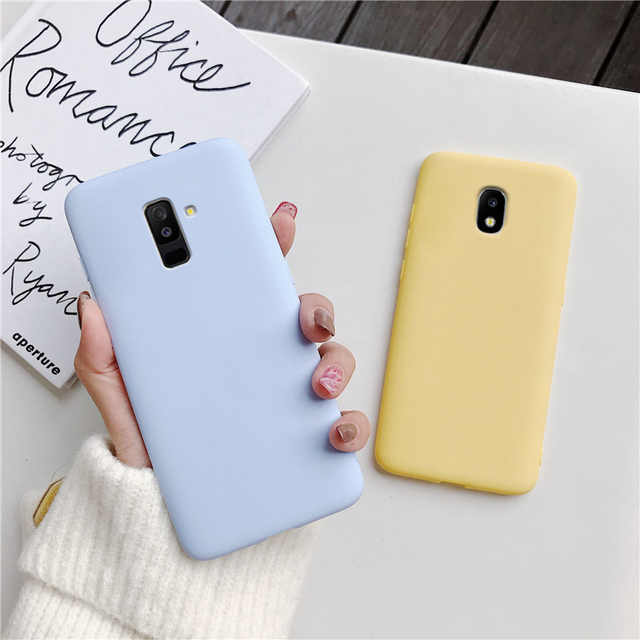 candy color silicone phone case for samsung galaxy j7 pro j5 j3 2017 2016 2015 a6 a8 j8 j6 j4 plus 2018 matte soft tpu cover 4