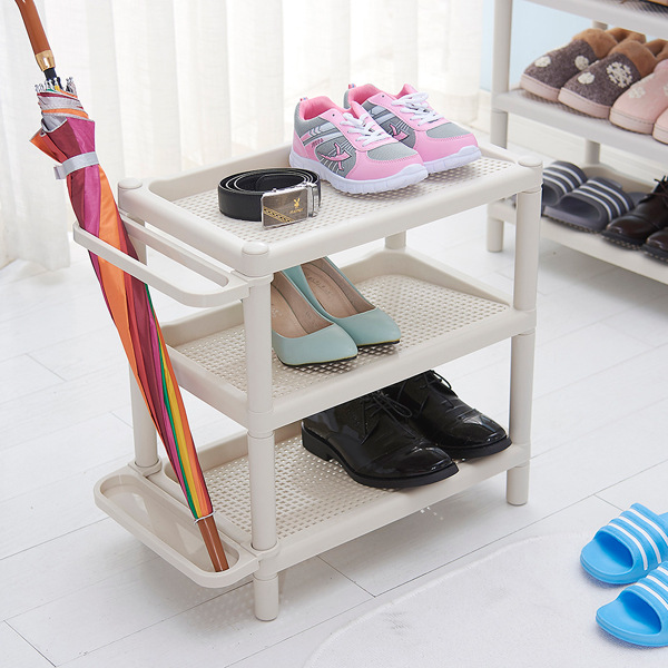 Wholesale Supply Simple Multilayer Plastic Shoe Rack Dormitory Combination Shoe Cabinet Living Room Kitchen Bathroom Shelf Small
