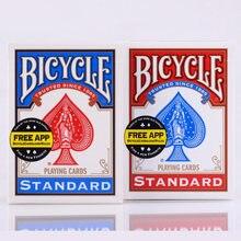 Cartas de jogo de papel de bicicleta, 1 peça, azul/vermelho original, padrão, baralho de pôquer