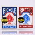 1 pçs azul/vermelho original bicicleta cartões de jogo de papel piloto volta padrão decks cartões de poker