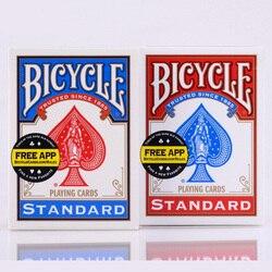 1 pièces de cartes à jouer en papier de vélo Original bleu/rouge