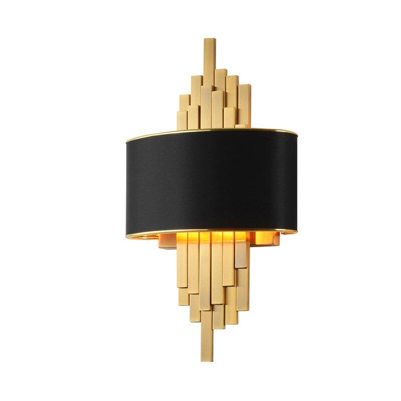 Wandlamp pós moderno simples conduziu a lâmpada de parede para villa hotel europeu luxo sala estar iluminação quarto cabeceira luminária parede